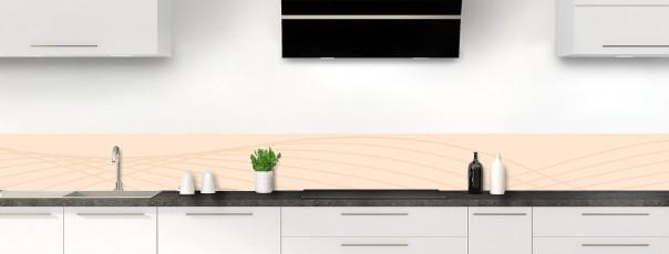 Crédence de cuisine Courbes couleur sable dosseret motif inversé