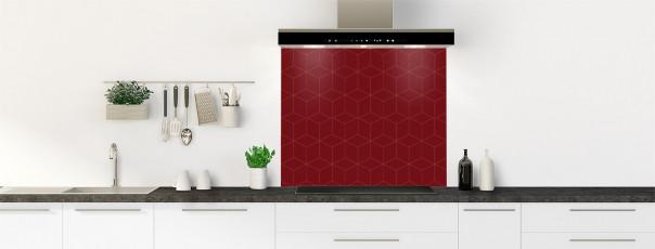 Crédence de cuisine Cubes en relief couleur rouge pourpre fond de hotte