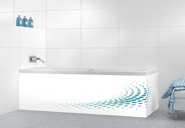 Panneau tablier de bain Nuage de points couleur bleu canard