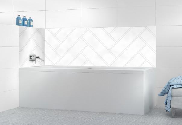 Panneau de bain Lambris nuagé blanc