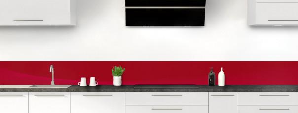 Crédence de cuisine Ombre et lumière couleur rouge carmin dosseret