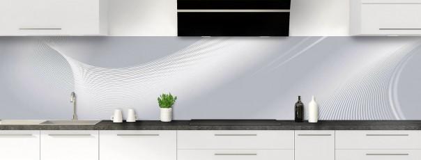Crédence de cuisine Volute couleur gris métal panoramique