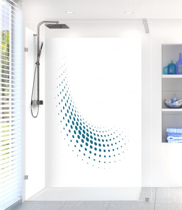 Panneau de douche Nuage de points couleur bleu baltic