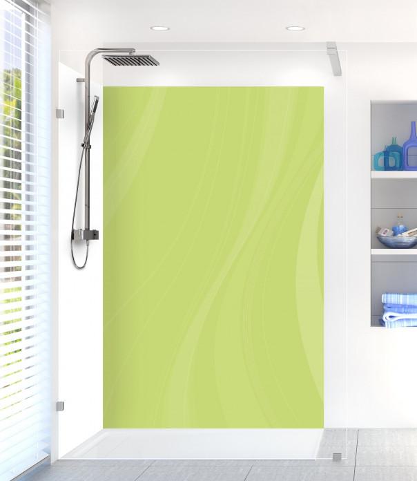 Panneau de douche Voilage couleur vert olive motif inversé