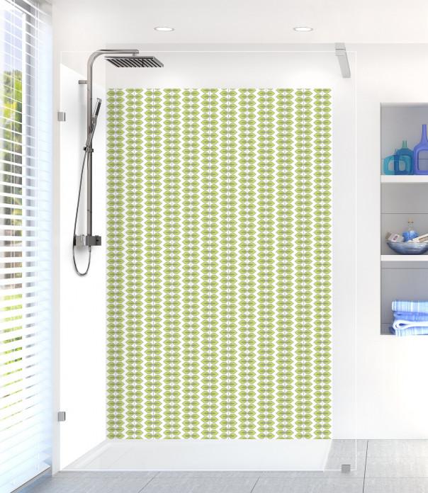 Panneau de douche Petites Feuilles  couleur vert olive