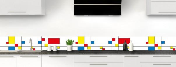 Crédence de cuisine Rectangles Mondrian dosseret