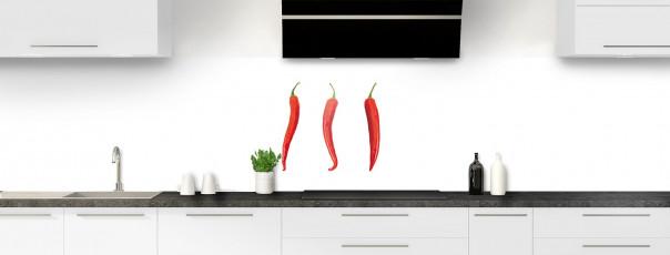 Crédence de cuisine Piments rouges panoramique