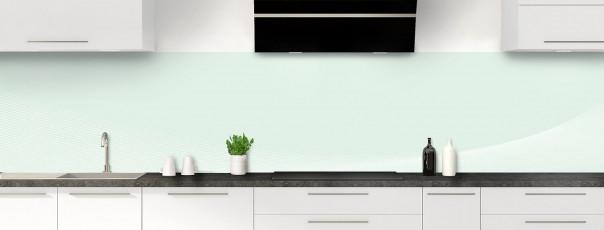 Crédence de cuisine Ombre et lumière couleur vert eau panoramique motif inversé