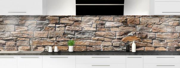 Crédence de cuisine Briques de roche panoramique
