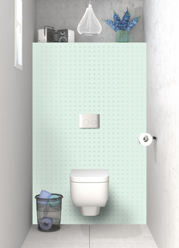 Panneau WC Petits carrés couleur vert eau
