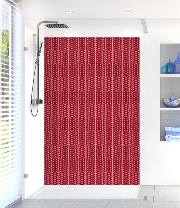 Panneau de douche Origami  couleur rouge carmin
