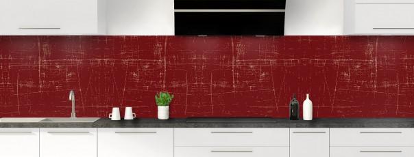 Crédence de cuisine Ardoise rayée couleur rouge pourpre panoramique