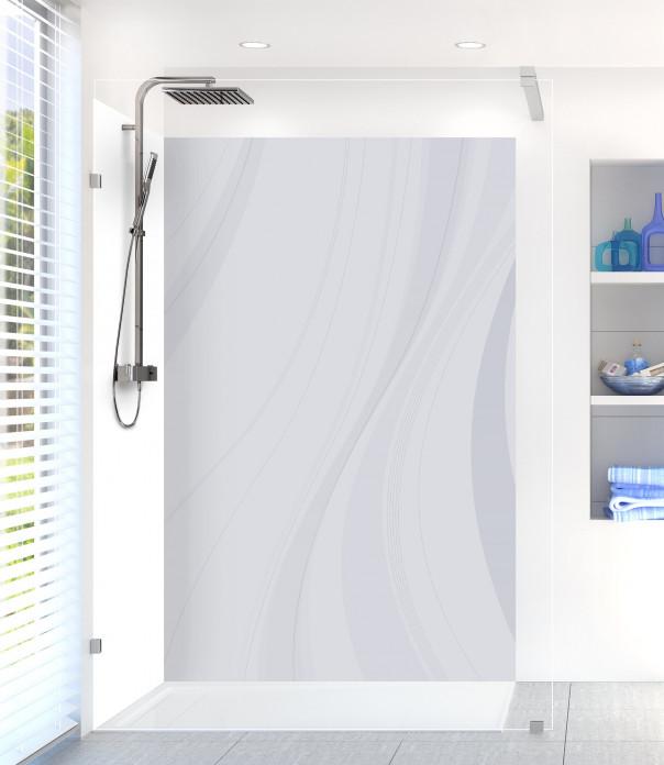 Panneau de douche Voilage couleur gris clair motif inversé