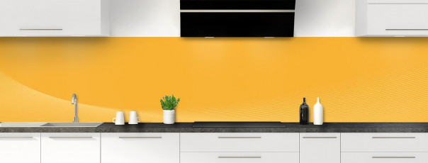 Crédence de cuisine Ombre et lumière couleur abricot panoramique