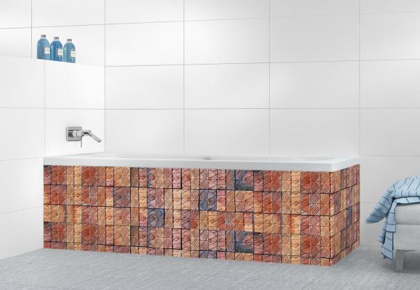 Panneau tablier de bain Briques patchwork