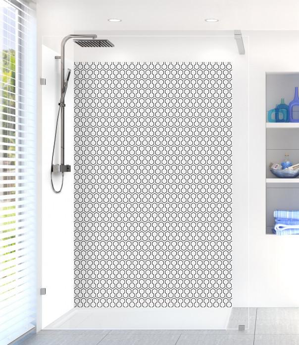 Panneau de douche Hexagones  couleur blanc