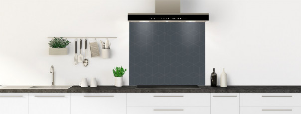 Crédence de cuisine Cubes en relief couleur gris carbone fond de hotte