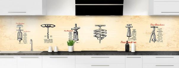 Crédence de cuisine Tire-bouchons panoramique