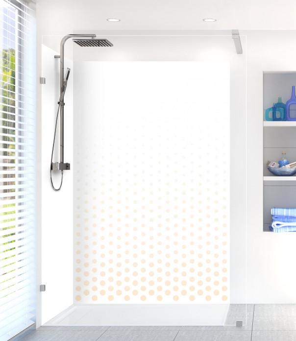 Panneau de douche Pluie de points couleur sable