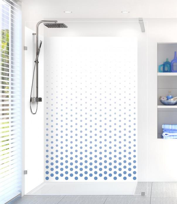 Panneau de douche Pluie de points couleur bleu lavande