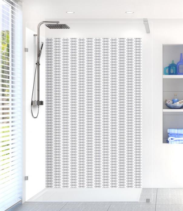 Panneau de douche Petites Feuilles  couleur gris clair