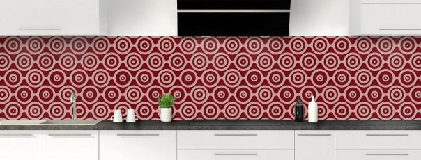 Crédence de cuisine Papier peint rétro couleur rouge pourpre panoramique