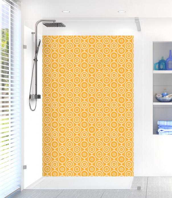 Panneau de douche Papier peint rétro couleur abricot