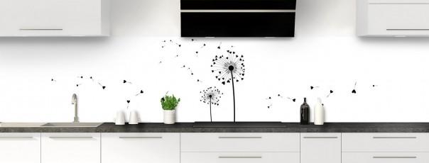 Crédence de cuisine Envol d'amour couleur noir panoramique