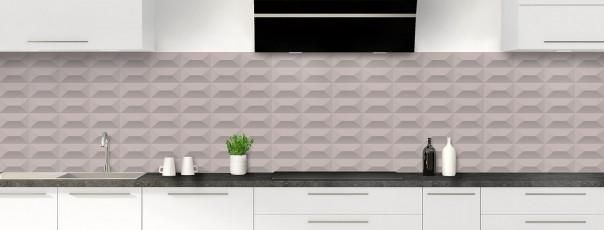 Crédence de cuisine Briques en relief couleur argile panoramique