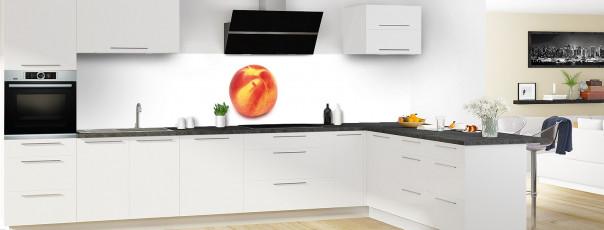 Crédence de cuisine Nectarine panoramique en perspective