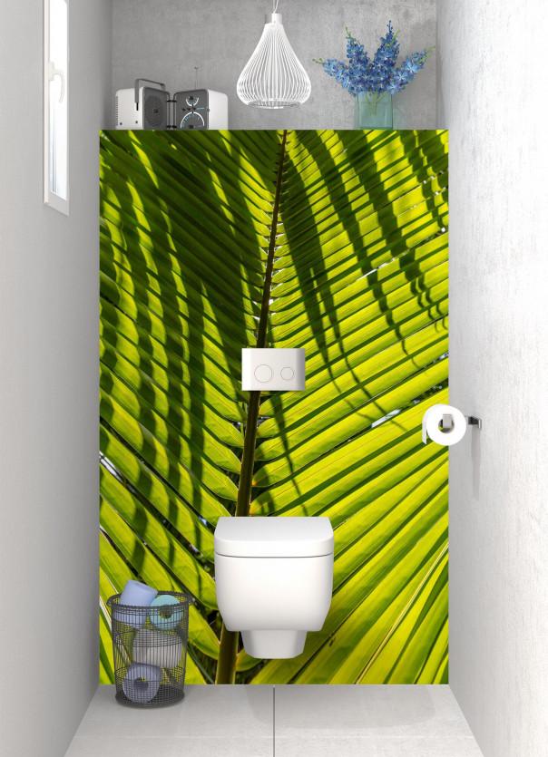 Panneau WC Feuille de cocotier motif inversé