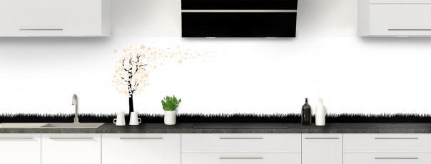 Crédence de cuisine Arbre d'amour couleur sable panoramique