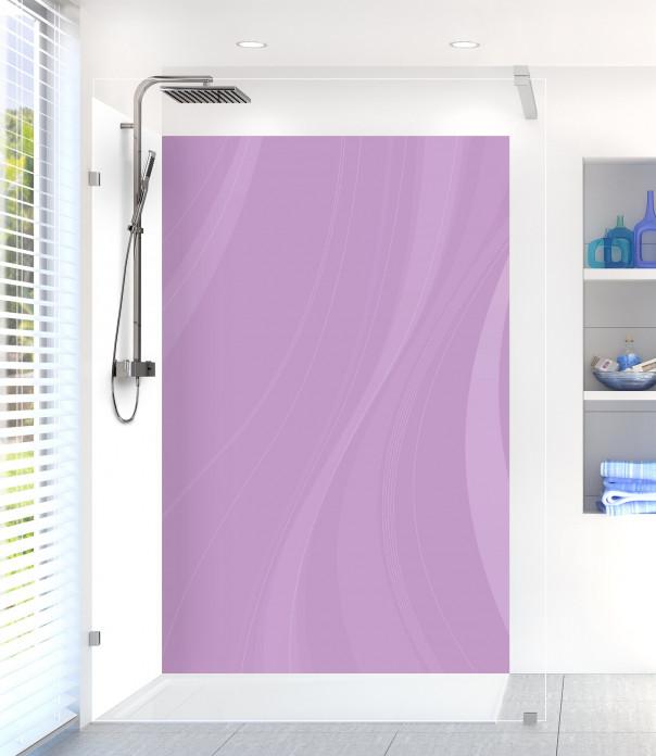 Panneau de douche Voilage couleur parme motif inversé