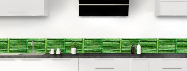 Crédence de cuisine Palissade de bambou vert dosseret
