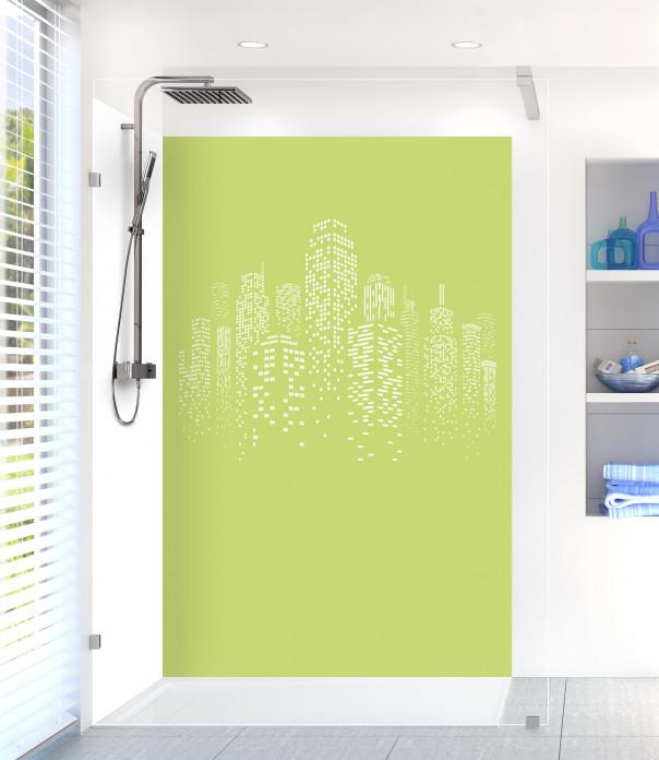 Panneau de douche Gratte-ciels couleur vert olive