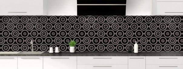 Crédence de cuisine Papier peint rétro couleur noir panoramique
