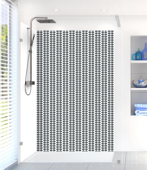 Panneau de douche Petites Feuilles  couleur gris carbone