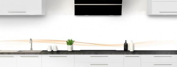 Crédence de cuisine Vague graphique couleur sable dosseret
