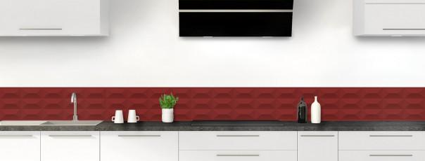 Crédence de cuisine Briques en relief couleur rouge pourpre dosseret