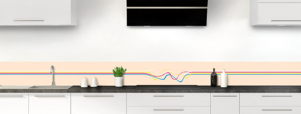 Crédence de cuisine Light painting couleur sable dosseret