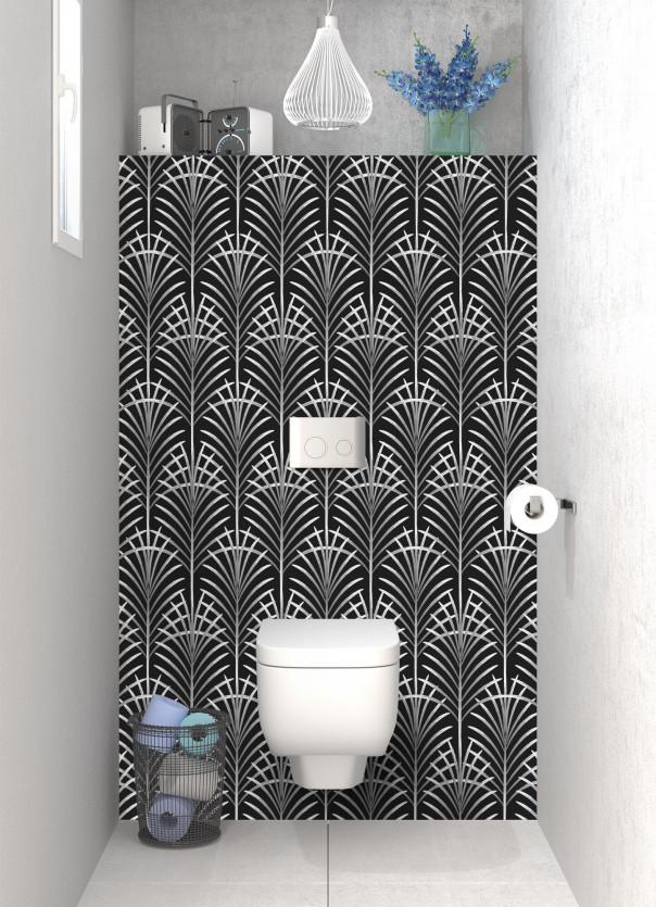 Panneau WC Feuilles de paume couleur blanc