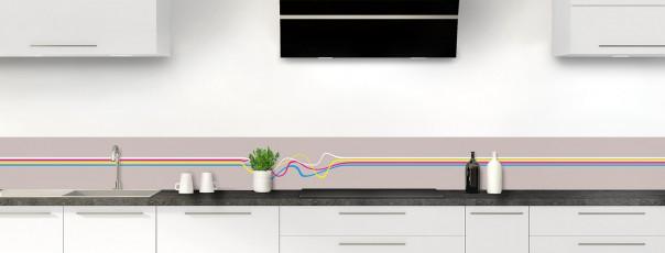 Crédence de cuisine Light painting couleur argile dosseret motif inversé