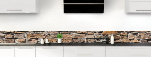 Crédence de cuisine Briques de roche dosseret