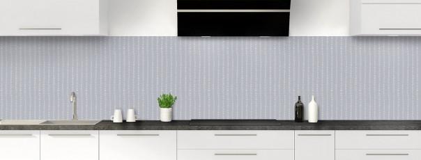 Crédence de cuisine Pointillés couleur gris métal panoramique