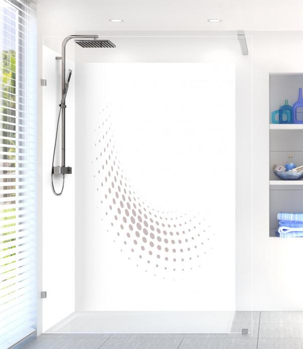 Panneau de douche Nuage de points couleur argile