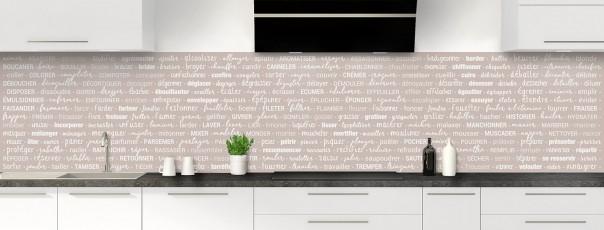 Crédence de cuisine Etapes de recette couleur argile panoramique