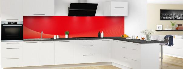 Crédence de cuisine Ombre et lumière couleur rouge vif panoramique en perspective