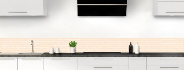 Crédence de cuisine Recettes de cuisine couleur sable dosseret