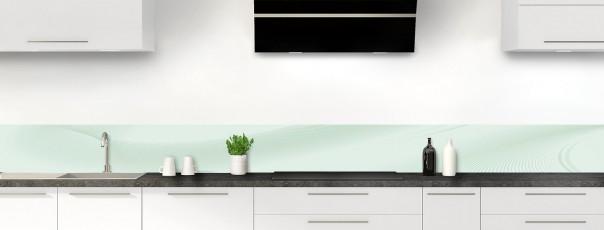 Crédence de cuisine Volute couleur vert eau dosseret