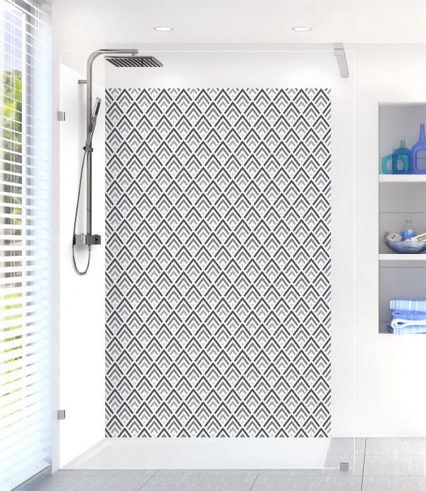 Panneau de douche Ecailles  couleur gris carbone